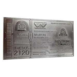 Alien: Nostromo Ticket - Limited Edition (versilbert) 1/1