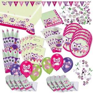 Gufo: Box per il compleanno per 8 bambini
