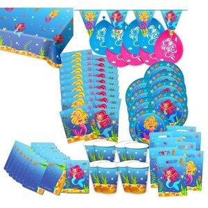 Meerjungfrau: Geburtstags-Box für 8 Kinder