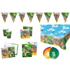 Safari: Geburtstags-Box für 8 Kinder