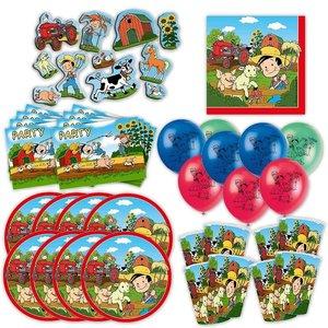 Bauernhof: Geburtstags-Box für 8 Kinder