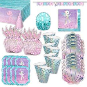 Glitzer-Meerjungfrau: Geburtstags-Box für 8 Kinder