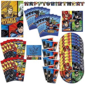 Justice League: Geburtstags-Box für 8 Kinder