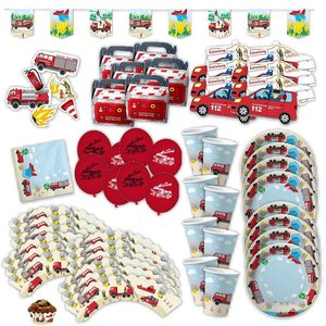 Pompiers: Box d'anniversaire pour 6 enfants