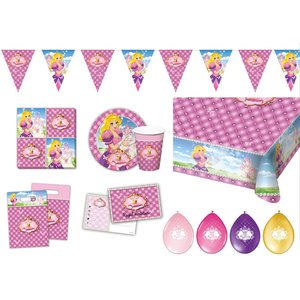 Princesse: Box d'anniversaire pour 6 enfants