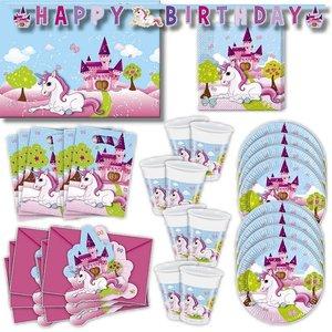 Unicorno: Box per il compleanno per 6 bambini