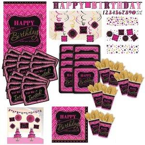 Pink: Geburtstags-Box für 8 Gäste