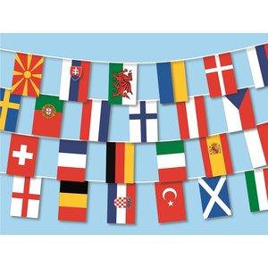 Chaîne du drapeau: 24 pays championnat d'Europe 2020 12.8 m