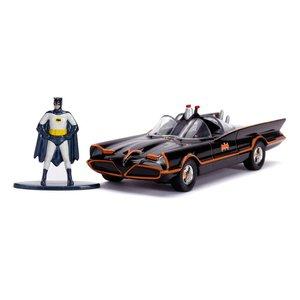 Batman: 1966 Classic Batmobil 1/32 con figura