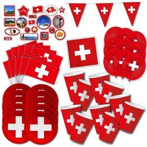 Schweiz-Party Box für 10 Gäste