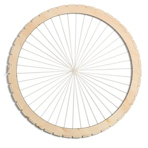 Telaio di legno per la tessitura rotondo
