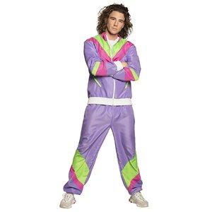 Années 80 - Tenue de sport rétro violet