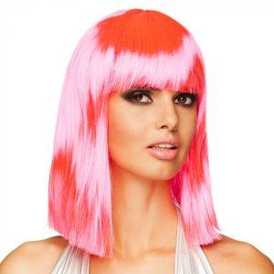 Neon pink Long Bob - Dance