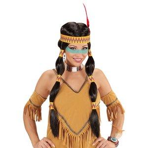 Squaw Indianerin mit Stirnband