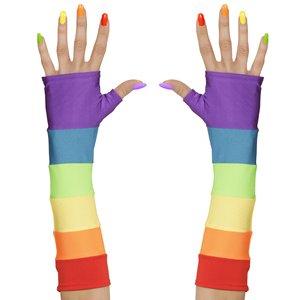 Regenbogen - Handschuhe fingerlos