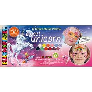 Palette en metal 10 couleurs - Sweet Unicorn
