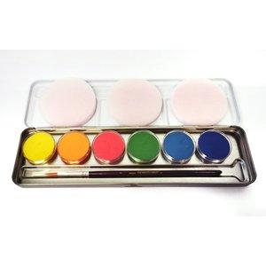 Palette en métal - 6 fards fluo UV