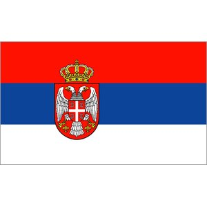 Serbien mit Adler
