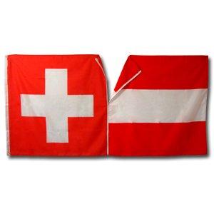 Reissverschluss Fahne Schweiz-Österreich